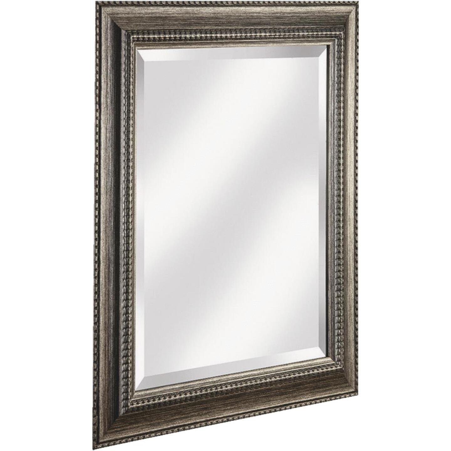 Erias Home Designs Traditional 21.5 In. W x 25.5 H Antique Pewter Composite Framed Wall Mirror Image 1