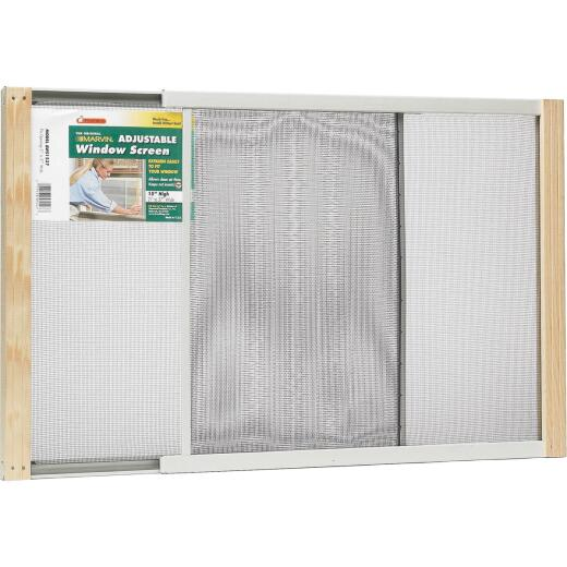 W.B. Marvin 15 In. x 21-37 In. Adjustable Window Screens by Frost King